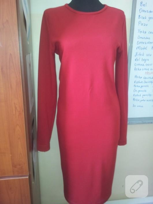 kirmizi elbise