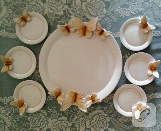 polyester boyama tepsi ve çay tabakları