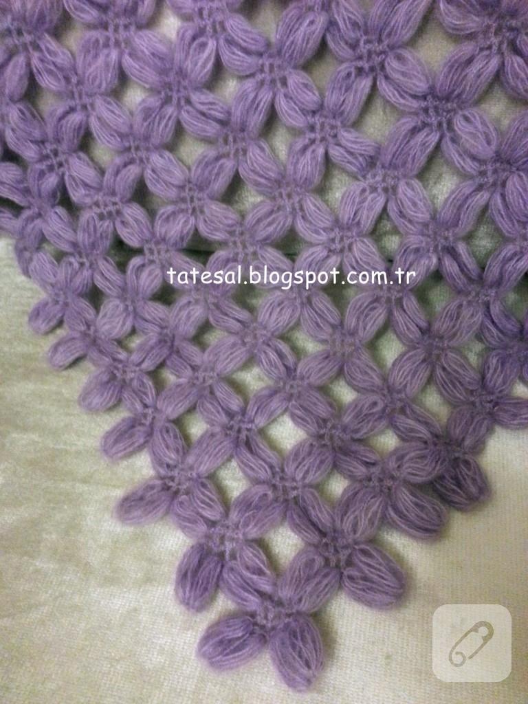 Batik İpten Ücgen Uclu Yelek Modeli Anlatimli