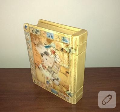 ahşap boyama vintage kutu yapımı