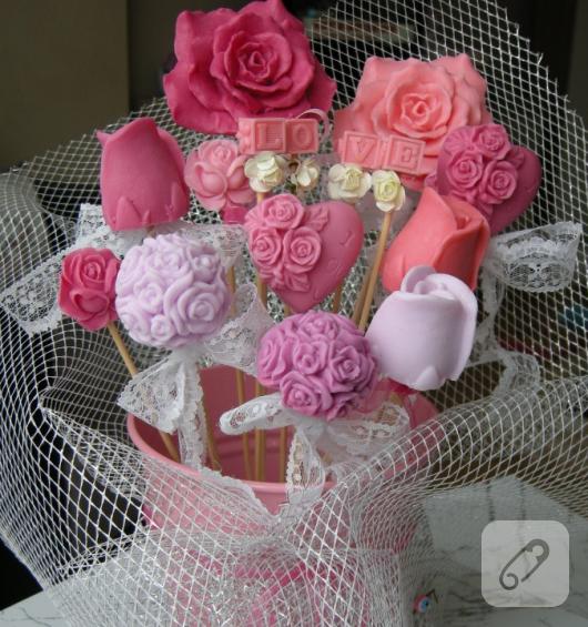 dekoratif sabun buketi
