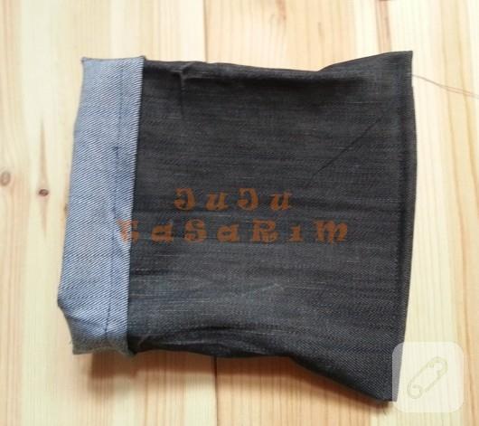 eski kot pantolondan organizer yapımı