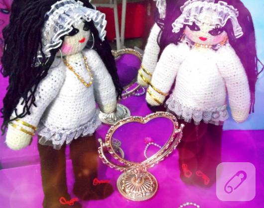amigurumi örgü ikiz oyuncak bebekler
