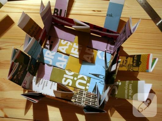 Kağıttan sepet yapımı