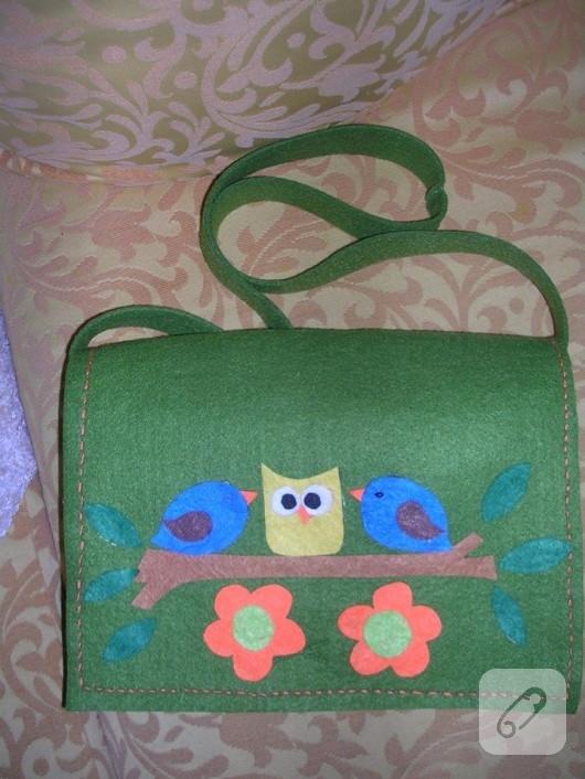 Keçe postacı çantası