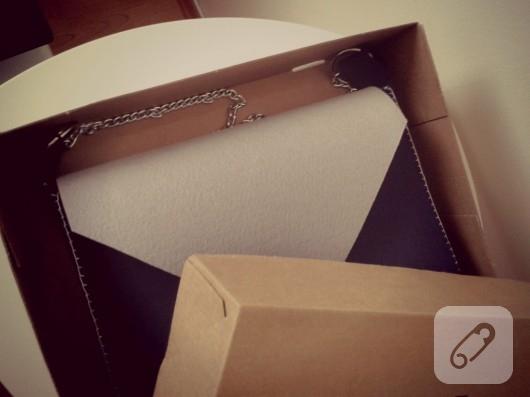 keçeden zincirli kol çantası yapımı