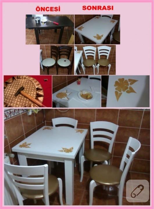 mobilya boyama mutfak takımı yenileme