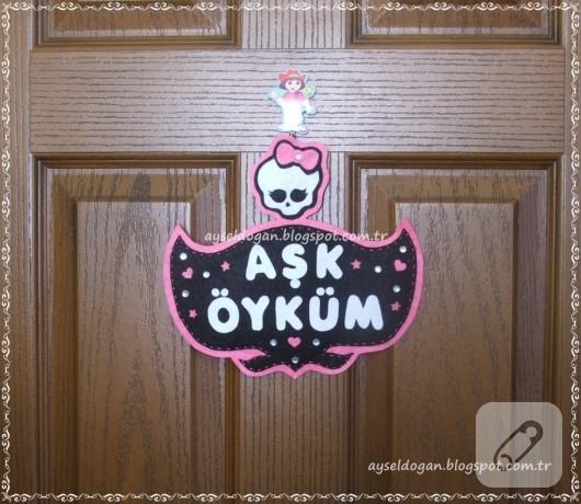 Monster High kapı süsü