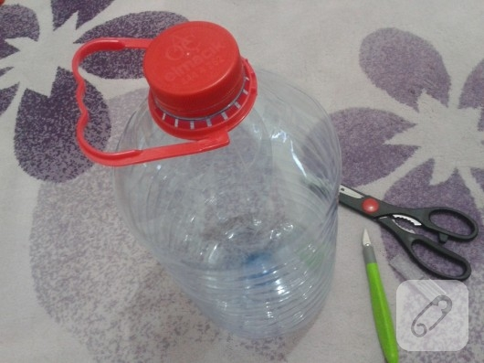 pet şişeden sepet yapımı