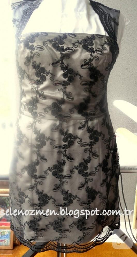 Siyah dantel abiye elbise