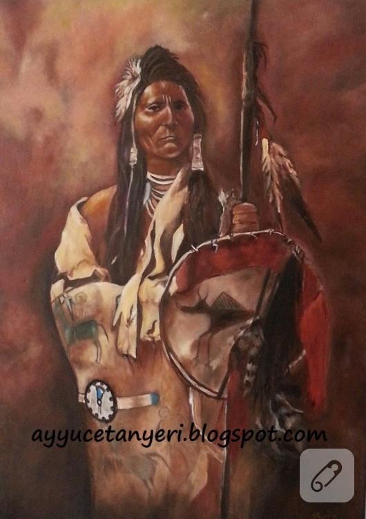 Yağlı boya kızılderili