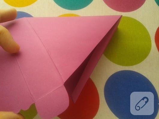 kartondan hediye paketi yapımı