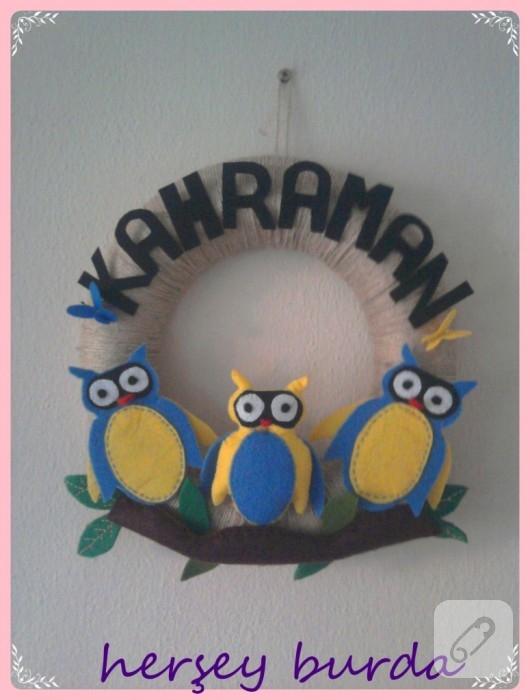 çocuk odası kapı süsüleri
