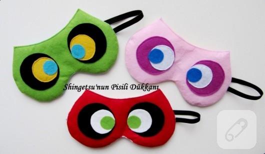 Keçe uyku maskeleri