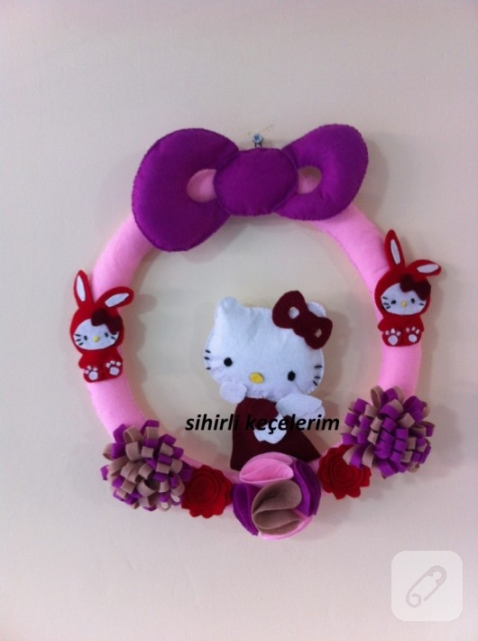 Hello Kitty kapı süsü