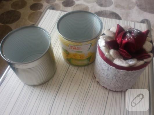 Konserve kutusundan dekoratif süs yapımı