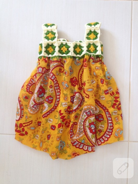 Örgü motifli balon elbise