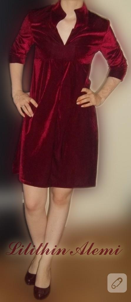 kirmizi-kadife-elbise