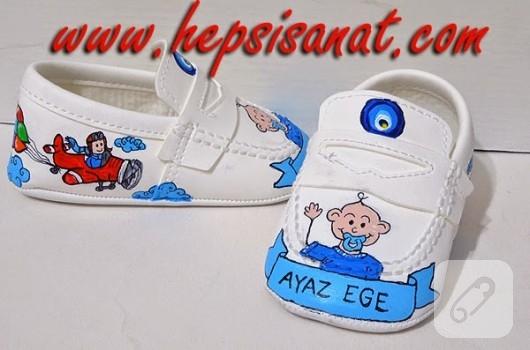 ayakkabi-boyama-bebek-ayakkabilari