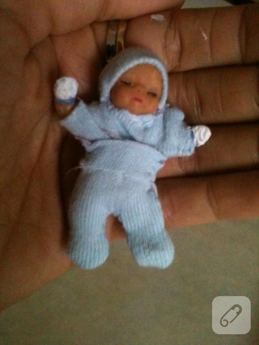 fimo-hamurundan-minyatur-bebek