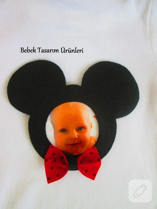 Keçeden Mickey Mouse çerçeve Magnet 10marifetorg