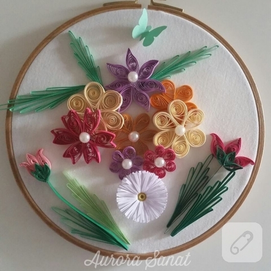 quilling-cicekli-kasnak-pano