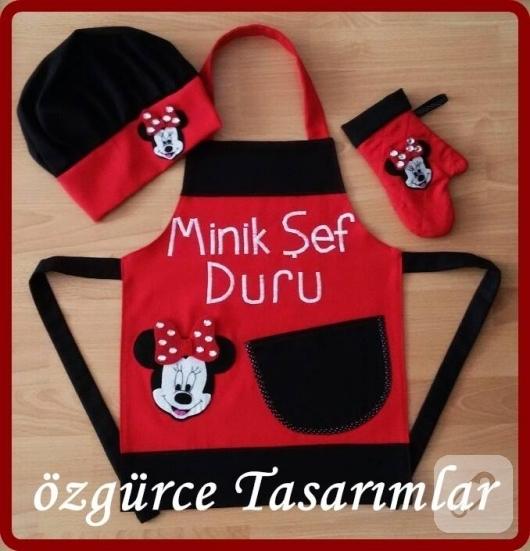 minnie-mouse-aplikeli-cocuk-mutfak-onlukleri