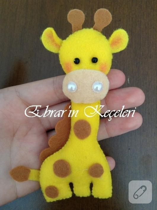 Keçeden Zürafa Yapımı 10marifetorg