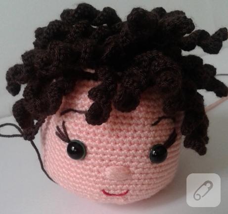 Amigurumi ve Bez Bebeklerde Kıvırcık Saç Nasıl Yapılır? - Pembe ... | 432x461