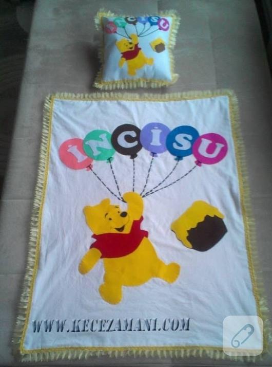 kece-islemeli-Winnie-the-Pooh-bebek-battaniyesi-yapimi