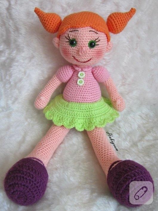 amigurumi-turuncu-sacli-oyuncak-bebek-modelleri-1