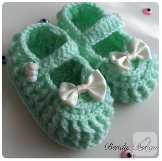 tig-isi-yesil-sevimli-bebek-ayakkabilari