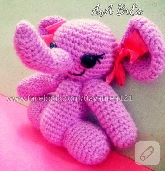 amigurumi-orgu-pembe-fil-oyuncak-modelleri