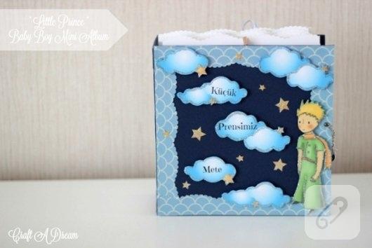 kucuk-prens-temali-scrapbook-bebek-ani-defteri