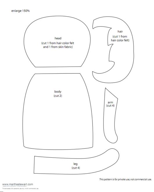 El Yapımı Bez Bebek şablonları 10marifetorg