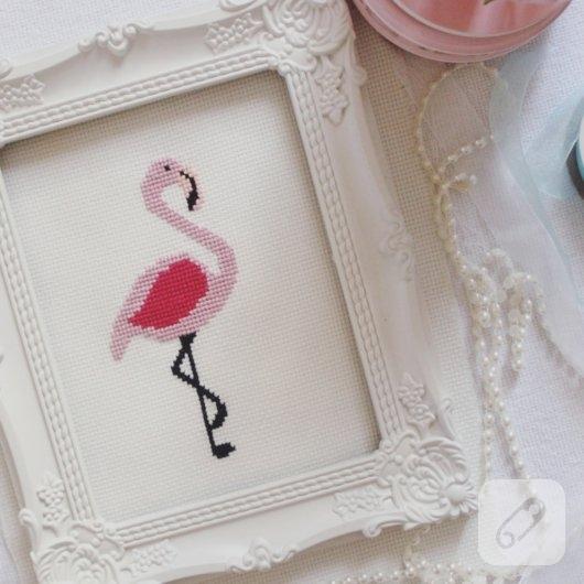 etamin-isleme-flamingo-cerceve-modelleri
