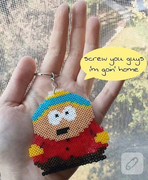hama-boncuklarindan-cartman-anahtarlik-4