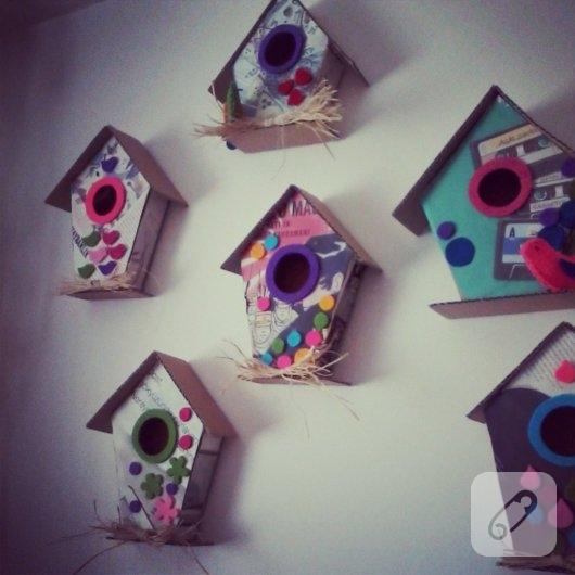 kartondan-kus-evi-duvar-susleri