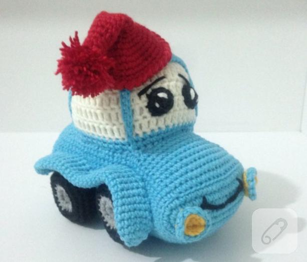 Amigurumi Örgü Oyuncak Araba Modeli ( Anlatımlı ) – Örgü, Örgü ... | 523x613