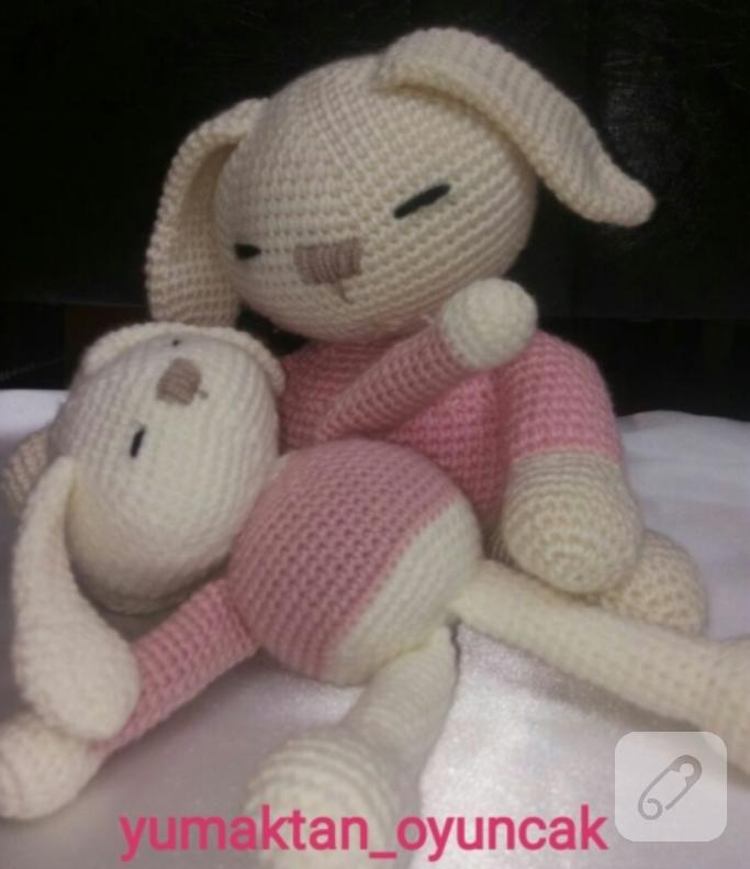 Amigurumi Örgü Oyuncak Modelleri – Amigurumi Uykucu Tavşan Modeli ... | 791x683