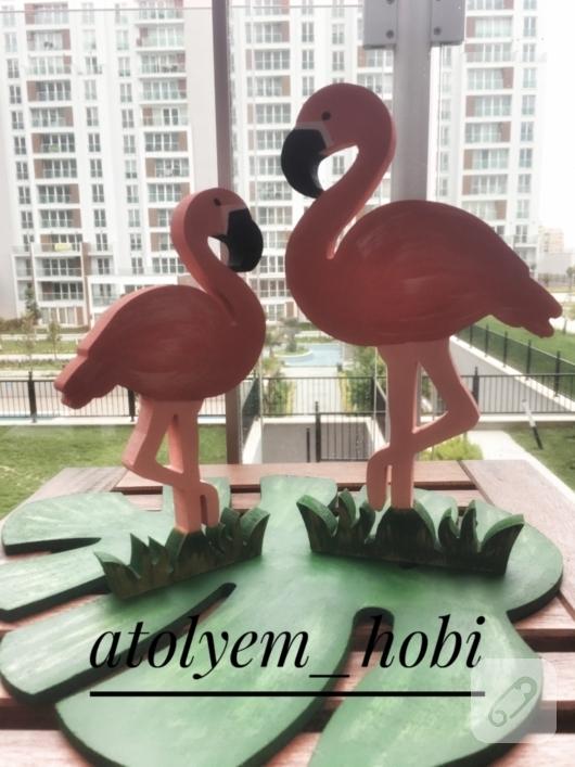 Ahşap Flamingolar 10marifetorg