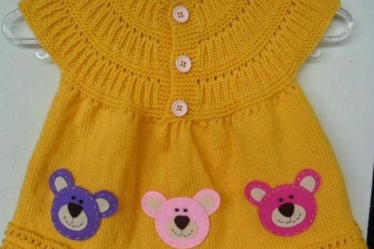 c69475ff10a7c Örgü/tığ işi bebek elbiseleri, örgü videoları 10marifet.org'da ...