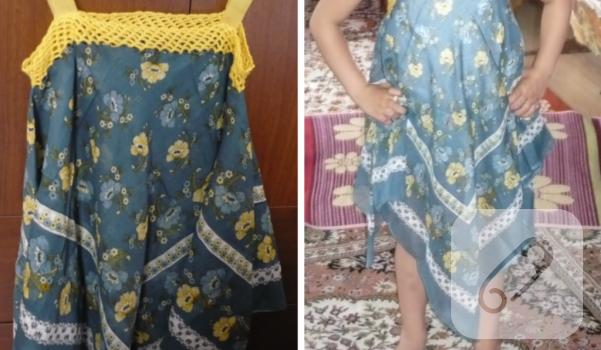 Eşarptan Nasıl Tarz Bir Yazlık Elbise Yapılır 78
