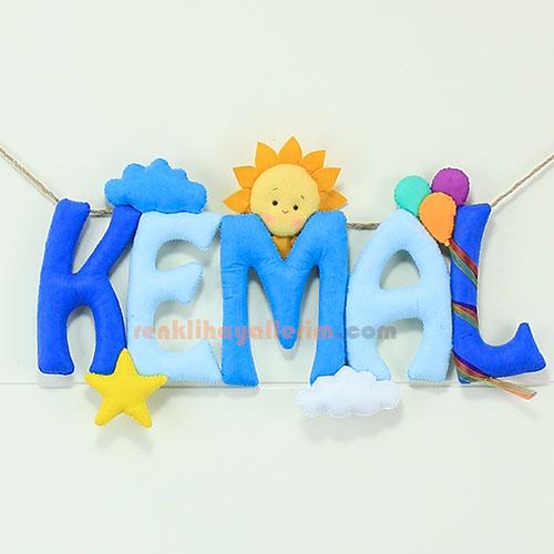 Kemal isimli bebek odası kapı süsü