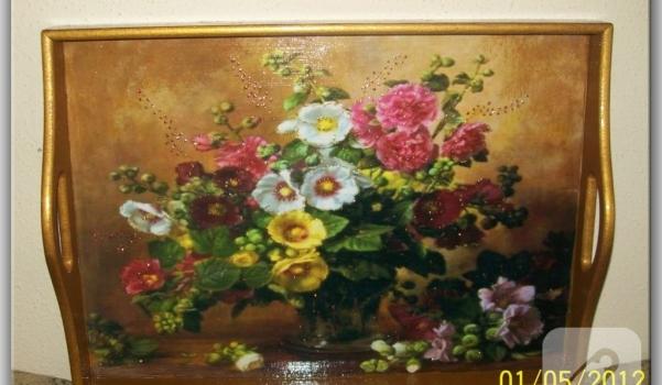 çiçek tepsi