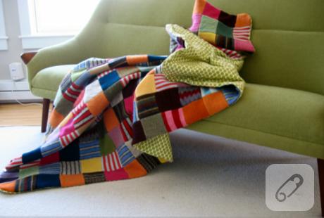 Eski kazaklardan - Como hacer una manta de lana para el sofa ...