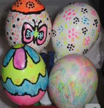 (Ücretsiz yazdırılabilir) Yumurta Boyama örnekleri