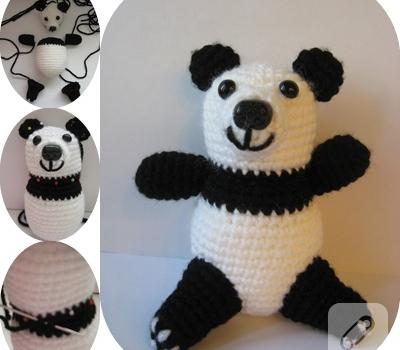 Ravelry: Amigurumi Panda Dondurma Anahtarlık Yapımı pattern by ... | 350x400