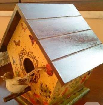 Ahşap Boyama Kuş Yuvası 10marifetorg