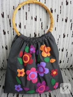 Çiçekli yazlık çanta